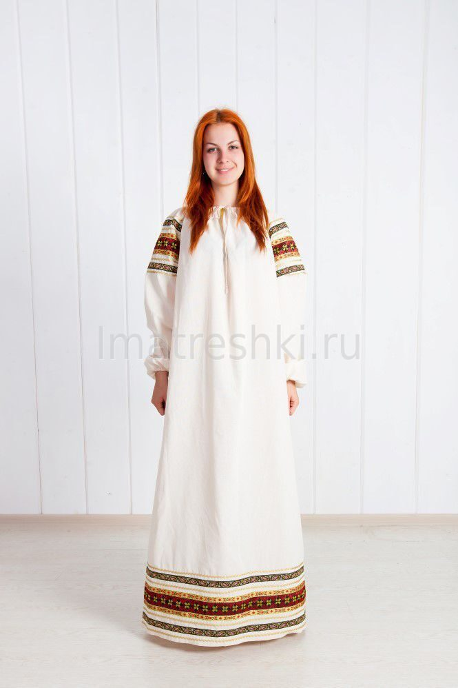 Русско народные платья в пол