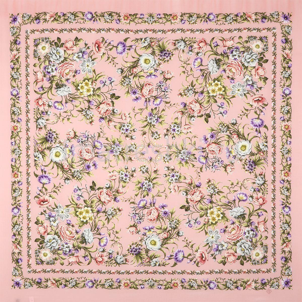 павлопосадский платок цветущая весна